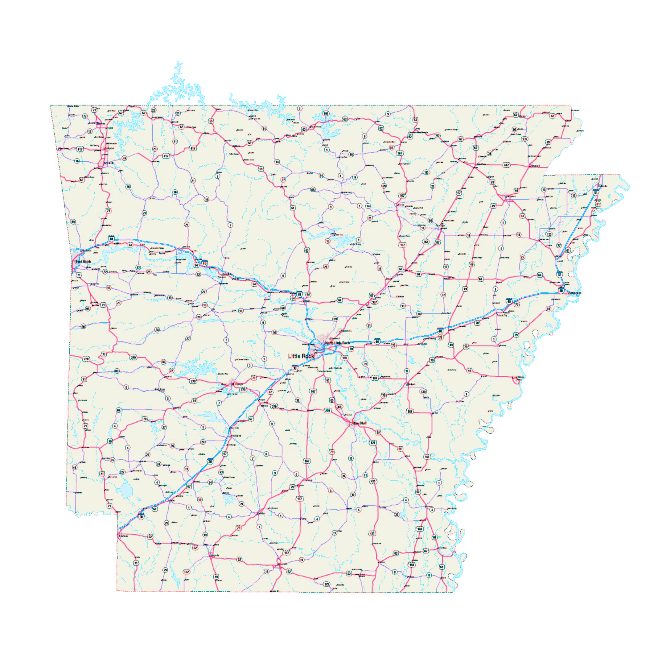 picture about Printable Map of Arkansas referred to as Arkansas Map - Arkansas Maps No cost - Arkansas printable highway Maps