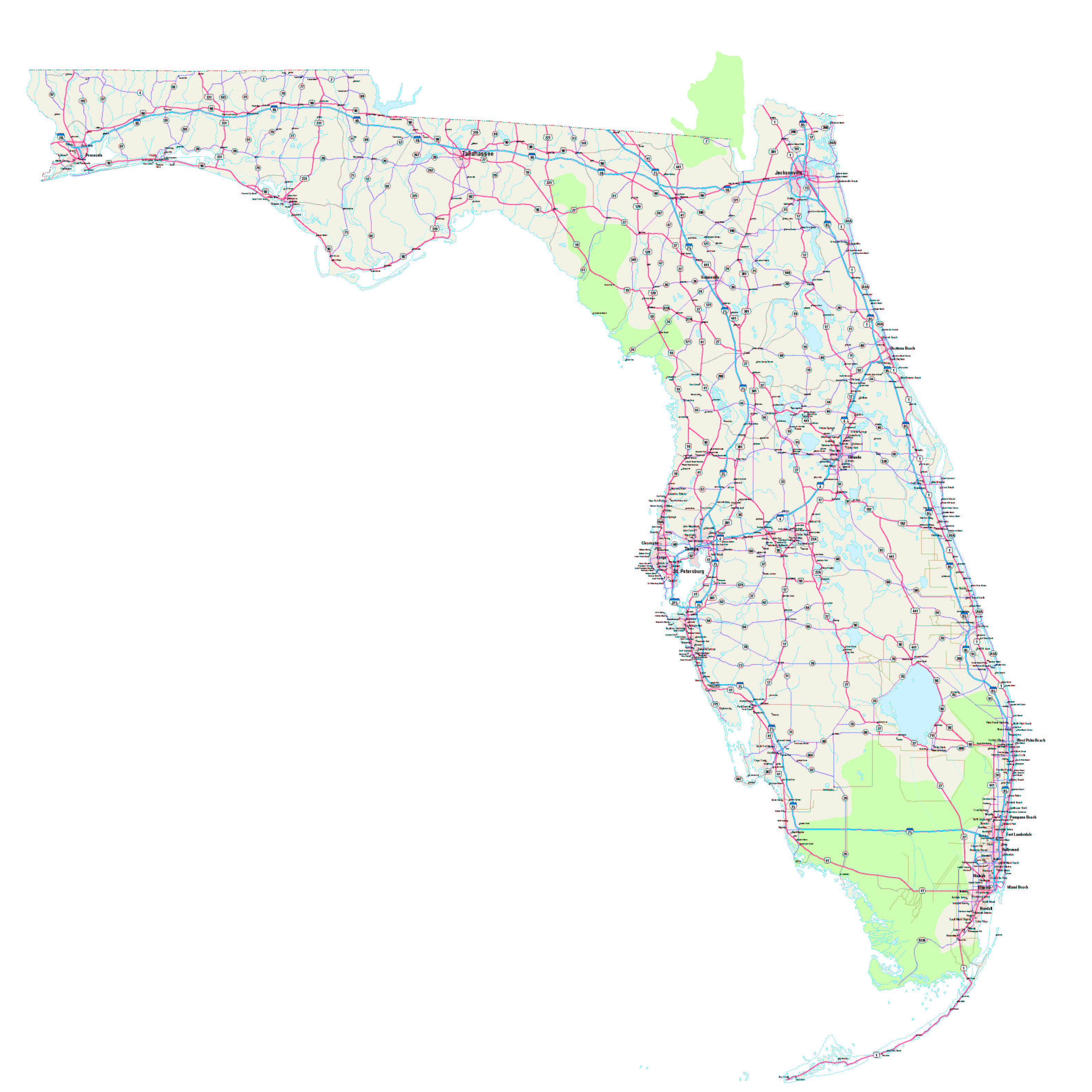Map Of Western Florida Cities.Florida Maps Florida Map Map Of Florida Florida City Maps