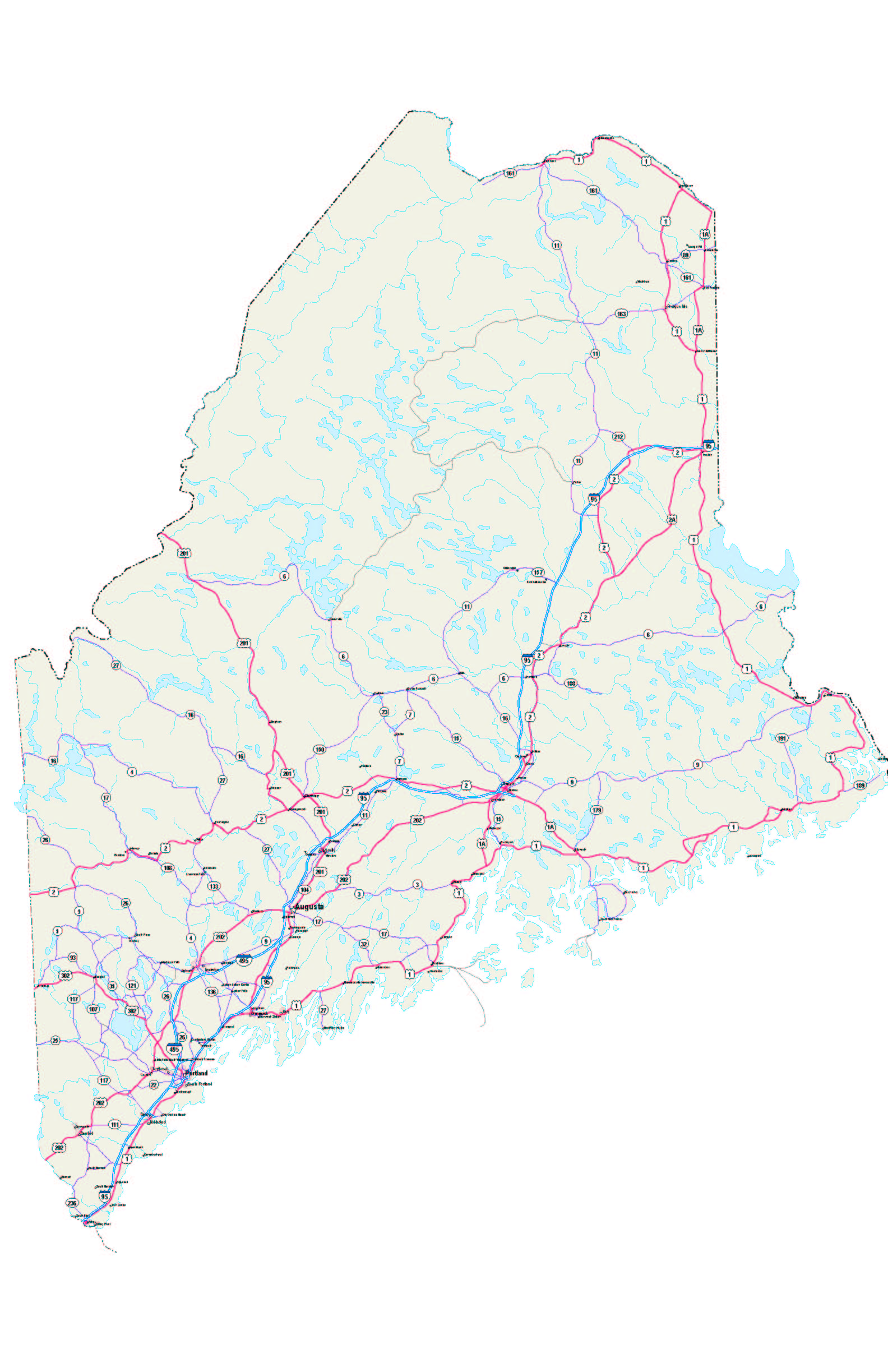 State Map Of Maine.Maine Map Maine Maps Maine Road Map Maine State Map